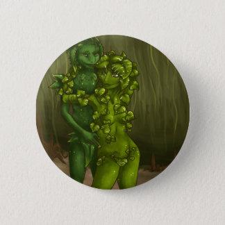 Snake Plant and Pothos Romance Pinback Button