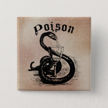 Halloween Themed Snake Poison Halloween Gothic Button
