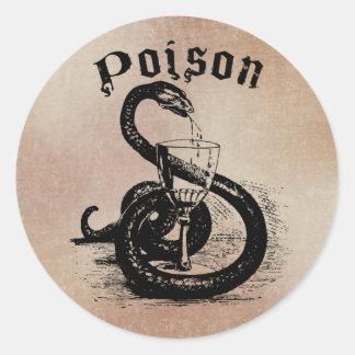 Snake Poison Halloween Gothic Classic Round Sticker