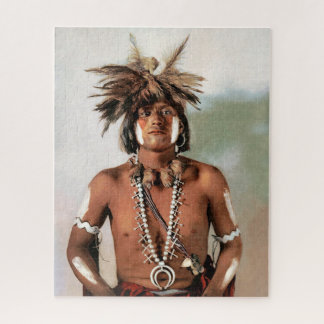 Snake Priest, an American Indian Jigsaw Puzzle