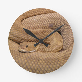 Snake Print Round Clock