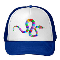 Snake Psychedelic Rainbow  Hat