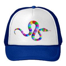 Snake Psychedelic Rainbow  Hat at Zazzle