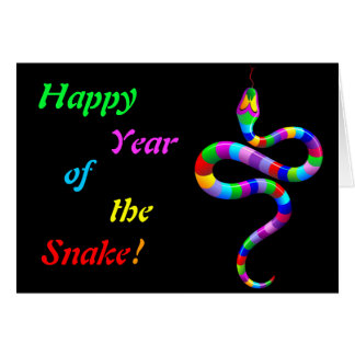 Snake Psychedelic Rainbow Note Card