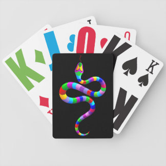 Snake Psychedelic Rainbow Playing Cards