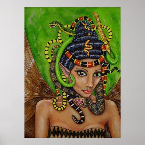 Snake Queen Fairy Poster print