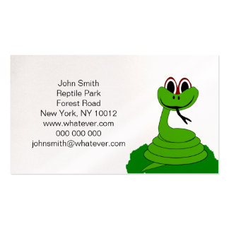 Snake Reptile Park Business Card