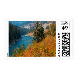 Snake River Canyon In Autumn Postage