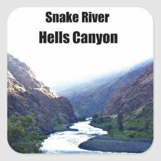 Snake RIver, Hells Canyon Square Sticker