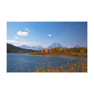 Snake River in front of the Grand Tetons Canvas Print