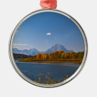 Snake River in front of the Grand Tetons in perfec Metal Ornament