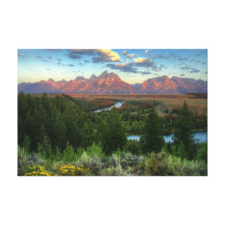 Snake River Overlook at Sunrise Stretched Canvas Prints