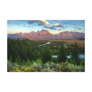 Snake River Overlook at Sunrise Canvas Print