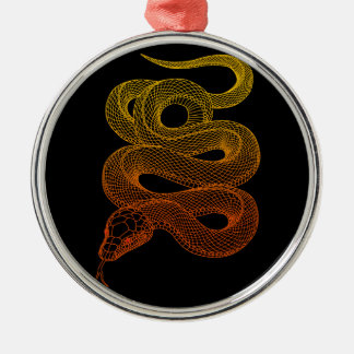 snake round metal christmas ornament