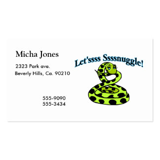 Snake Says Letsss Sssnuggle Business Card