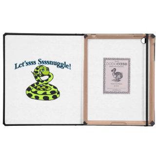 Snake Says Letsss Sssnuggle iPad Folio Cases