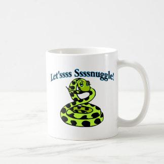 Snake Says Letsss Sssnuggle Coffee Mug