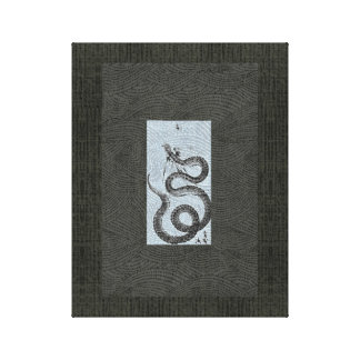 Snake/Serpent Sumi-e Canvas Prints