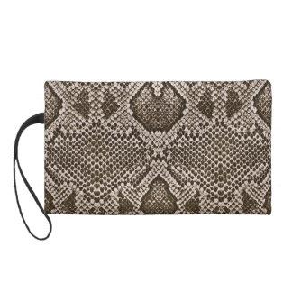 Snake skin wristlet purses