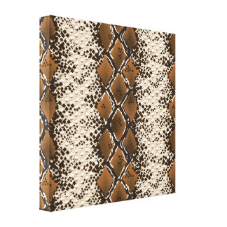 Snake Skin Stretched Canvas Print