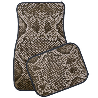 Snake skin car floor mat