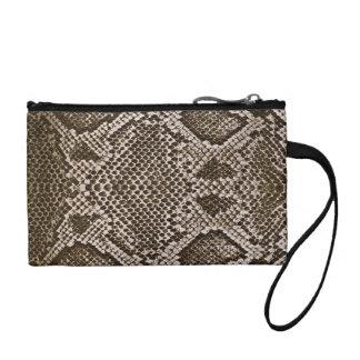 Snake skin change purse