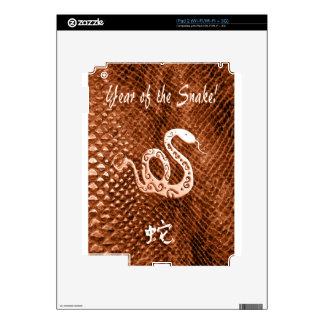 Snake Skin chinese new year orange Skins For The iPad 2
