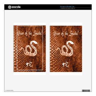 Snake Skin chinese new year orange Kindle Fire Decal