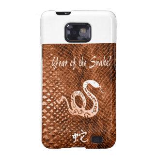 Snake Skin chinese new year orange Samsung Galaxy SII Cases