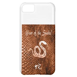 Snake Skin chinese new year orange Case For iPhone 5C