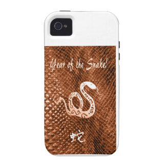 Snake Skin chinese new year orange Vibe iPhone 4 Cases