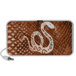 Snake Skin chinese new year orange Speakers