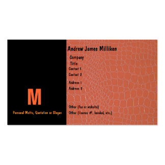 Snake Skin Coral with Initial Business Card Templates