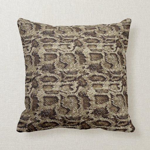 Snake-skin design an effortless dose of chic pillows