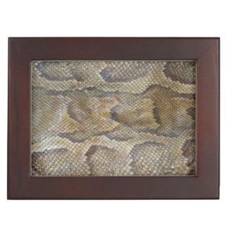 Snake Skin design matching jewelry set Memory Box