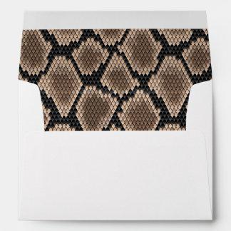 Snake skin envelope