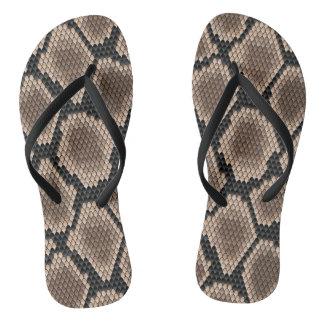 Snake skin flip flops