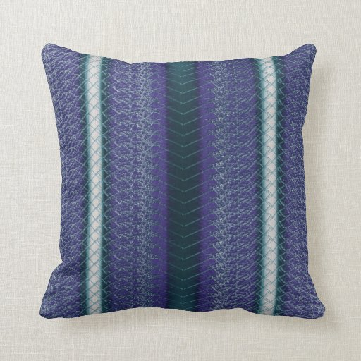 Snake Cushion Knitting Pattern : Snake skin look Aqua Purple White emerald Pattern Throw Pillow Zazzle