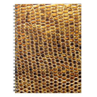 Snake Skin Spiral Note Books