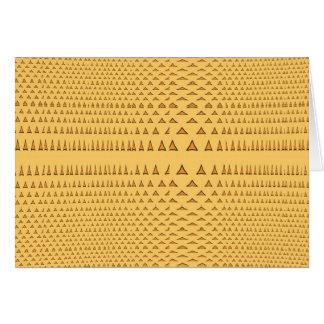 Snake Skin Orange Aztec Triangle Pattern Gifts Greeting Card