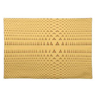 Snake Skin Orange Aztec Triangle Pattern Gifts Placemats