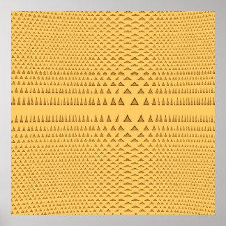 Snake Skin Orange Aztec Triangle Pattern Gifts Posters