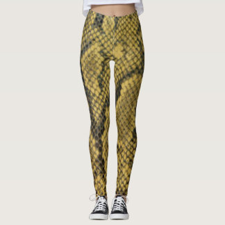 Snake Skin Pattern Print Design Leggings