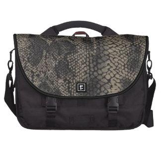 Snake Skin Print Black Laptop Bag