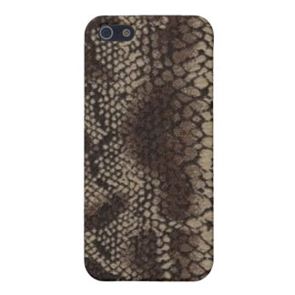 Snake Skin Print Brown Speck Case iPhone 4