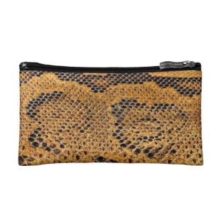 Snake Skin Print Cosmetic Bag