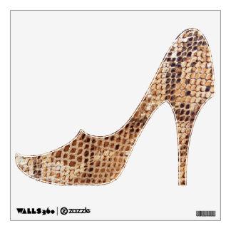 Snake Skin Print High Heel Shoe Wall Stickers