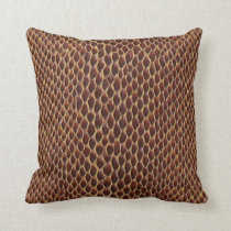 snake skin print throw pillow