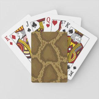 Snake skin, reptile pattern playing cards