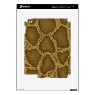 Snake skin, reptile pattern skins for iPad 3